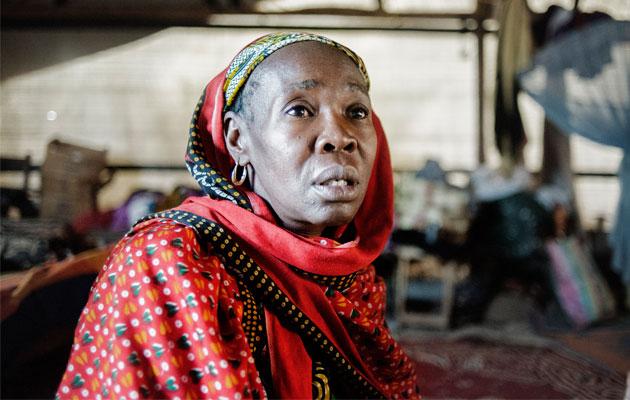 Alima har søgt tilflugt i en lejr i den centrale moské i Bangui, Den Centralafrikanske Republik