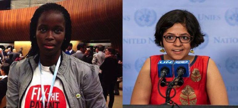 Phumeza Tisile og Nandita Venkatesan overlevede begge tuberkulose.